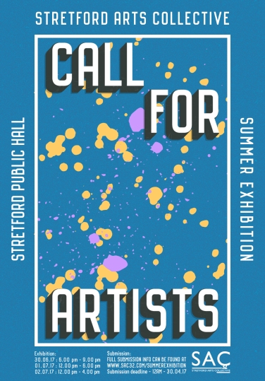 SAC32 - Call for Artists - A3 Poster